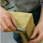 Very precise work on lap dovetail joints