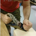 Careful planing of dovetail joints