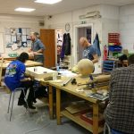 Woodwork Club where a variety of interesting projects are tackled