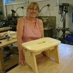 A lovely little stool made in a woodwork intermediate session.