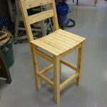 A workshop stool made in the Intermediate woodwork sessions.